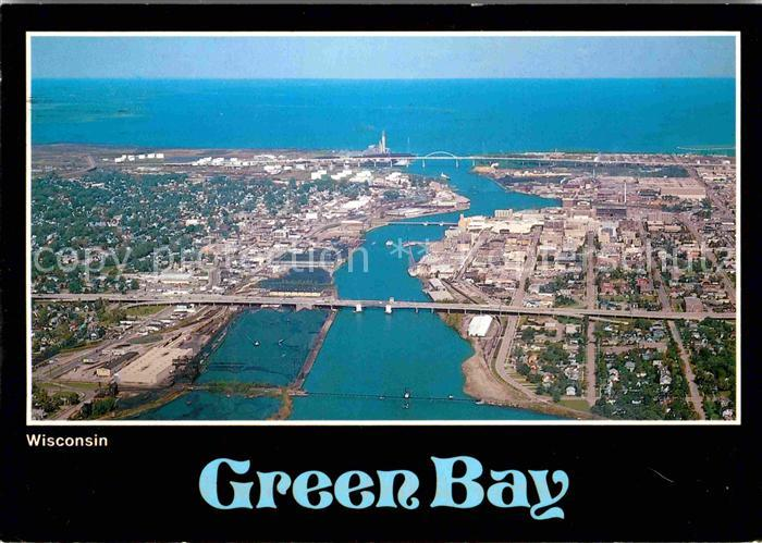 Green Bay Wisconsin Fliegeraufnahme Kat. Green Bay