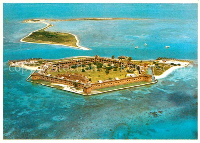 Key West Fort Jefferson Dry Tortugas Fliegeraufnahme Kat. Key West