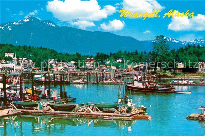 Wrangell Inner Harbor Hafen Berge Kat. Wrangell