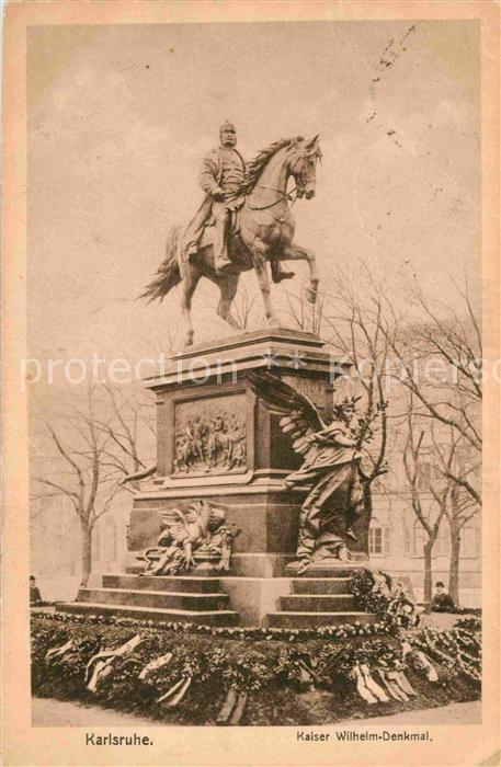 Mannheim Kaiser Wilhelm Denkmal Kat. Mannheim