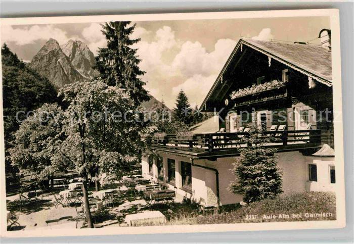 Garmisch Partenkirchen Aule Alm Kat. Garmisch Partenkirchen