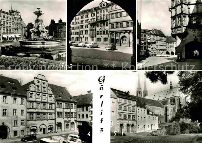 Goerlitz Sachsen Schoenhof Untermarkt Buergerhaeuser Kat. Goerlitz
