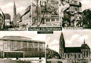 Heiligenstadt Eichsfeld Kneipp Bad Liebfrauenkirche Kreiskulturhaus Karl Marx Strasse Kat. Heiligenstadt
