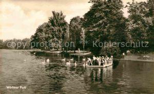 Woerlitz Floss auf See im Park Kat. Woerlitz