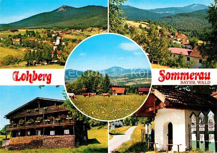 Lohberg Lam Sommerau Panorama Bayerischer Wald Kapelle Kat. Lohberg