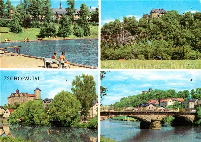 Wolkenstein Erzgebirge Warmbad Sanatorium Schloss Zschopau Schloss Wildeck Scharfenstein Kat. Wolkenstein