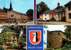 Lobenstein Bad Markt Kreiskulturhaus Parkpavillon Alter Turm