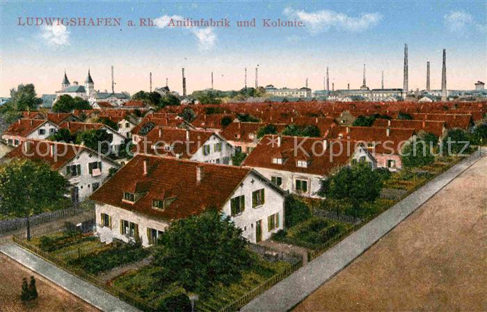 Ludwigshafen Rhein Anilinfabrik Kolonie Kat. Ludwigshafen am Rhein