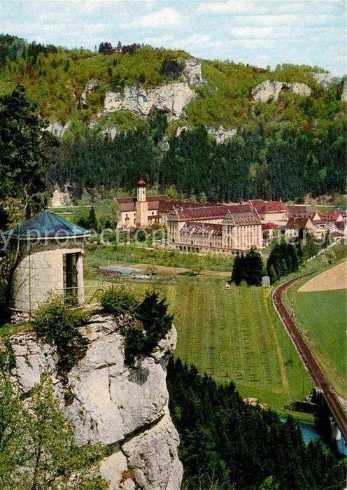 Beuron Donautal Kloster Beuron Blick vom Soldatenfriedhof Kat. Beuron