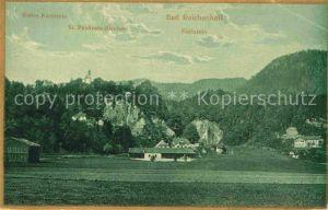 Bad Reichenhall Ruine Karlstein Sankt Pankratz Kircher Karstein Kat. Bad Reichenhall