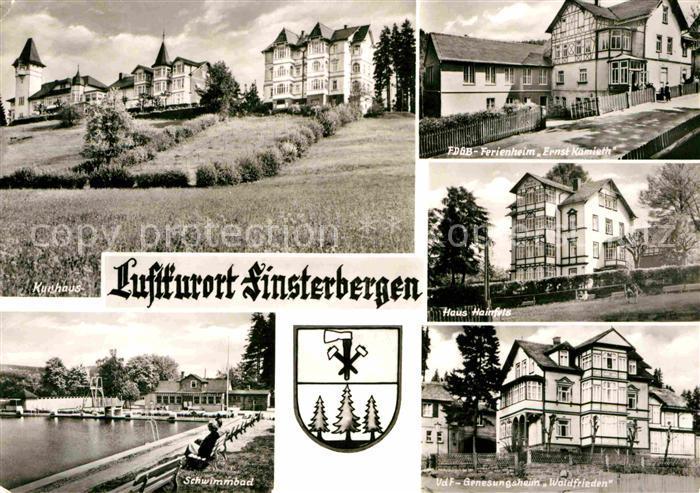 Finsterbergen Kurhaus Haus Hainfels Genesungsheim Waldfriedne Kat. Finsterbergen Thueringer Wald