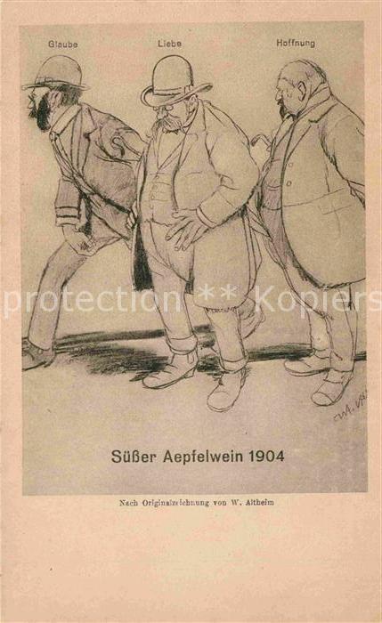 Frankfurt Main Suesser Aepfelwein 1904 Altheim Kat. Frankfurt am Main