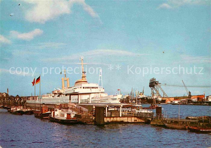 Hamburg Seebaederschiff Wappen von Hamburg St Pauli Landungsbruecken Kat. Hamburg