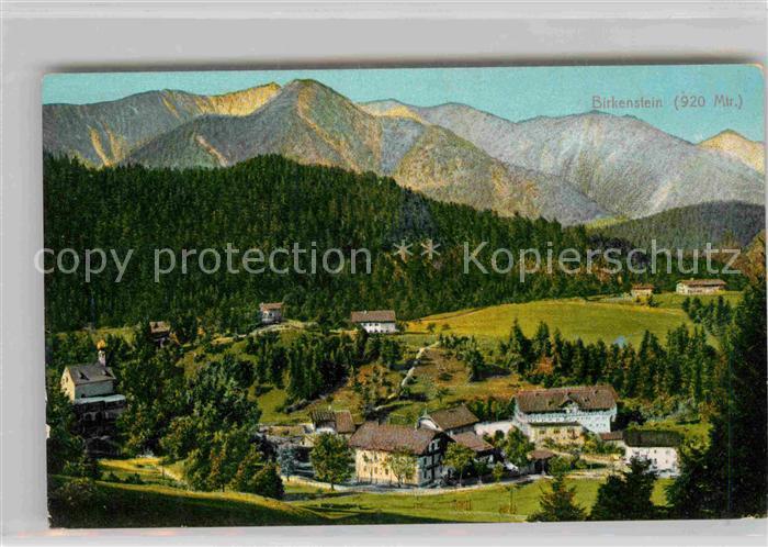 Schliersee Birkenstein Panorama Kat. Schliersee