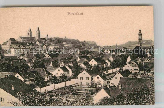 Freising Oberbayern Panorama Kat. Freising