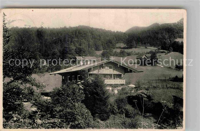 AK Berchtesgaden Hotel Pension Haus Eden und Ortsansicht