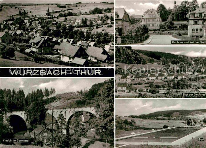 Wurzach Bad Viadukt im Sormitztal Wohnsiedlung Freibad Kat. Bad Wurzach