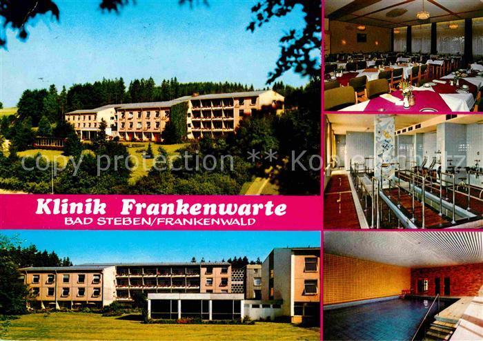 Bad Steben Klinik Frankenwarte Gastraum Reha Hallenbad Kat. Bad Steben