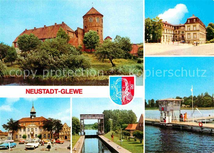 Neustadt Glewe Burg Schloss Rathaus Schleuse Volksbad Kat. Neustadt Glewe