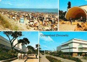 Zinnowitz Ostseebad Strand Konzertpavillon Erholungsheim der IG Wismut Roter Oktober