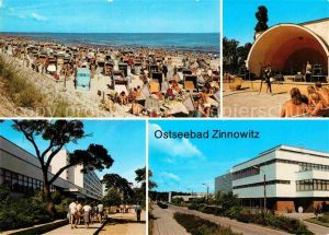Zinnowitz Ostseebad Strand Konzertpavillon Erholungsheim IG Wismut Roter Oktober