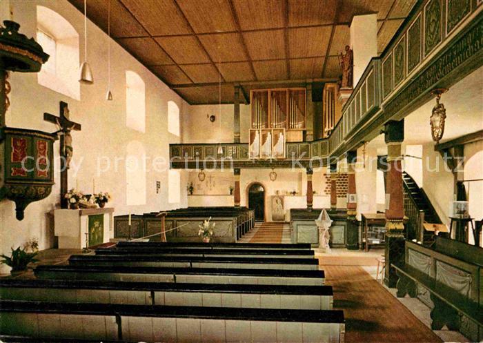Neunkirchen Odenwald Evangelische Pfarrkirche Innenansicht Kat. Modautal