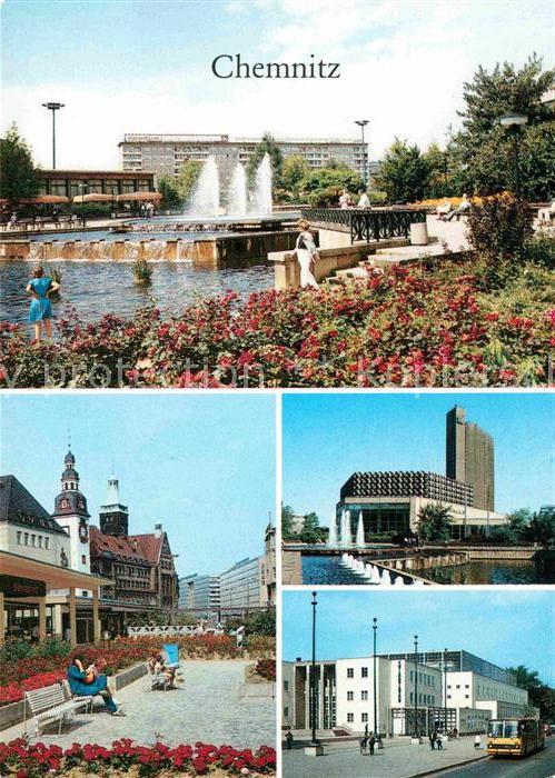 Chemnitz Karl Marx Platz Rosenhof Stadthalle Hotel Kongress Stadtbad Kat. Chemnitz