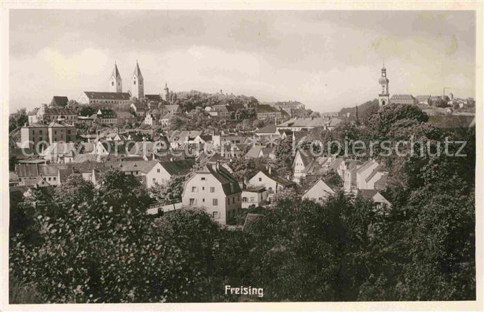 Freising Oberbayern Domberg Panorama Kat. Freising