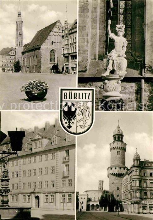 Goerlitz Sachsen Leninplatz Dreifaltigkeitskirche Georgsbrunnen Reichenbacher Tor  Kat. Goerlitz