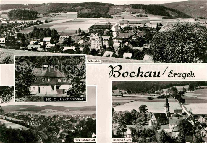 Bockau Erzgebirgskreis HO G Rechenhaus Kirche  Kat. Bockau