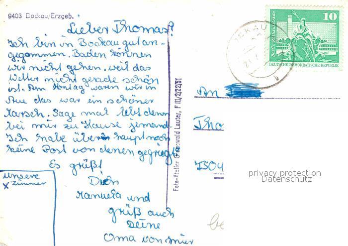 Bockau Erzgebirgskreis  Kat. Bockau 1