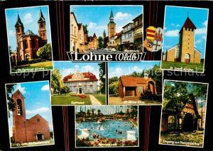 Lohne Kirchen Marktplatz Rathaus St Anna Klus Freilichtbuehne Schwimmbad Kat. Lohne (Oldenburg)