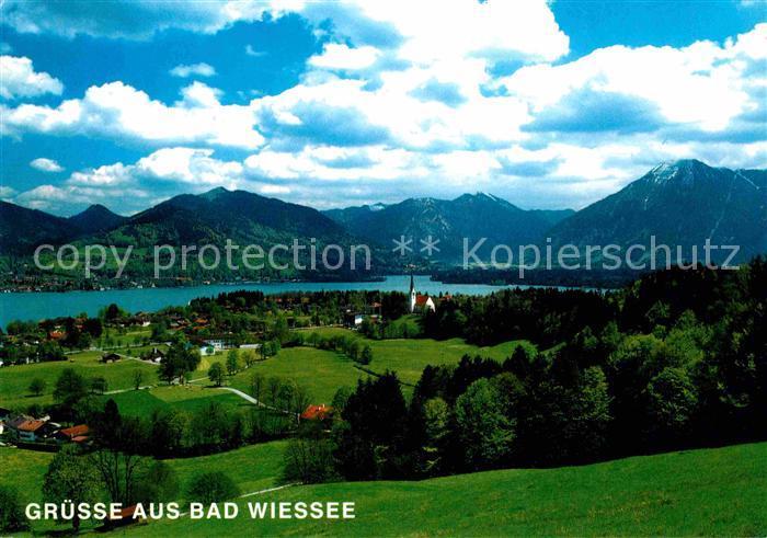 Bad Wiessee Tegernsee Panorama Blick von Prinzenruhe Wallberg Mangfallgebirge