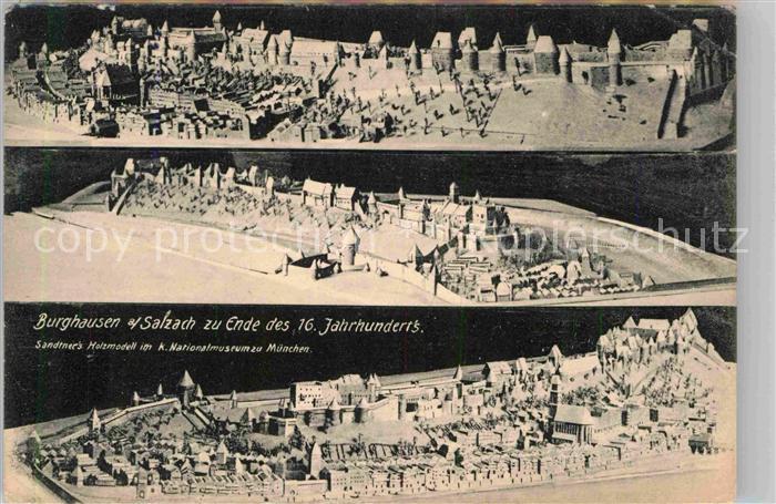 Burghausen Salzach Model Stadt Ende des 16. Jahrhunderts Kat. Burghausen