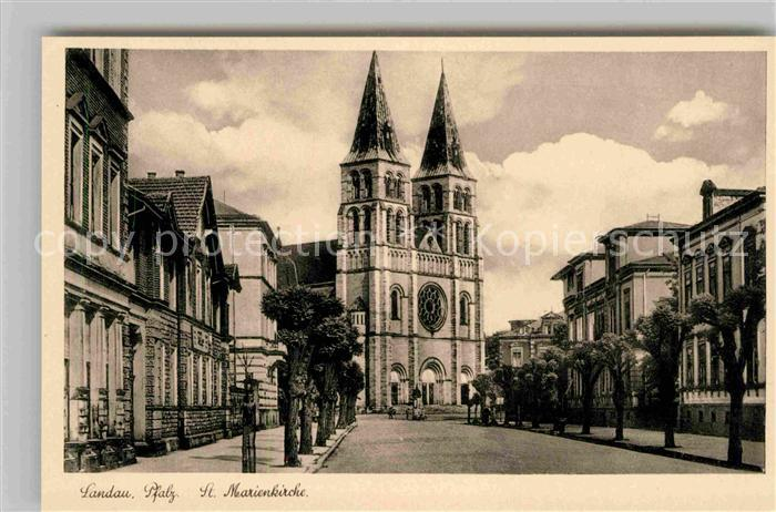 Landau Pfalz Sankt Marienkirche  Kat. Landau in der Pfalz