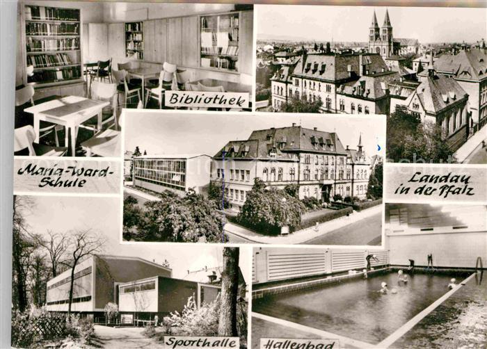 landau pfalz maria ward schule kat landau in der pfalz nr de29722 oldthing ansichtskarten. Black Bedroom Furniture Sets. Home Design Ideas