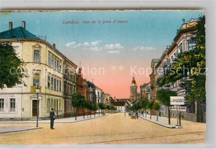 Landau Pfalz Rue de la gare  Kat. Landau in der Pfalz
