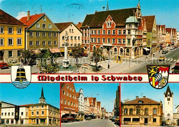 Mindelheim Marktplatz Rathaus Strassenpartie Kirche Gasthaus Kat. Mindelheim
