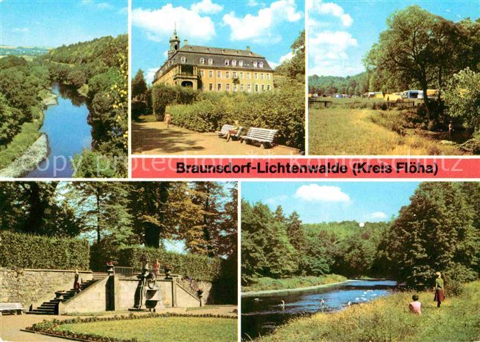 Braunsdorf Lichtenwalde Zschopautalblick Schloss Lichtenwalde Campingplatz Im Schlosspark Lichtenwalde Zschopautal