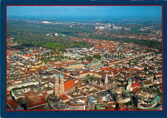 Muenchen Stadtzentrum Frauenkirche Rathaus Fliegeraufnahme Kat. Muenchen