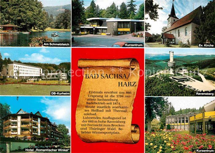 Bad Sachsa Harz Schmelzteich Kurzentrum Ravensberg Kurzentrum Kurheim Hotel Romantischer Winkel Kat. Bad Sachsa