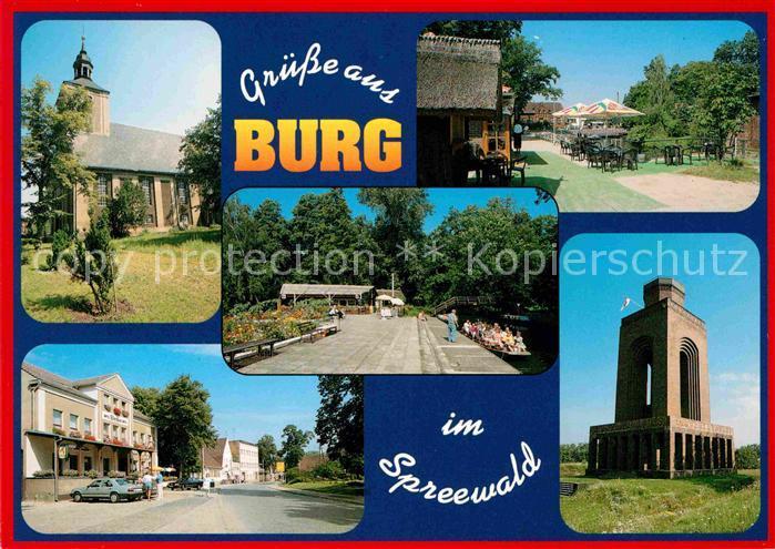 Burg Spreewald Kirche Hafen Bismarckturm Kat. Burg Spreewald