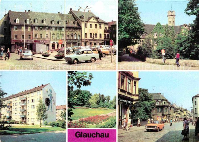 Glauchau Marktplatz Schloss Forderglauchau Rosarium Kat. Glauchau