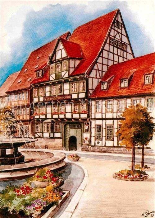 Quedlinburg Hotel zur goldenen Sonne Kat. Quedlinburg
