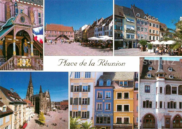 Ak mulhouse place de la r union nr 6264298 oldthing - Boutique free mulhouse ...