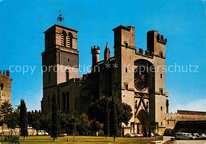 Beziers Cathedrale St Nazaire facade sur le Rempart Kat. Beziers