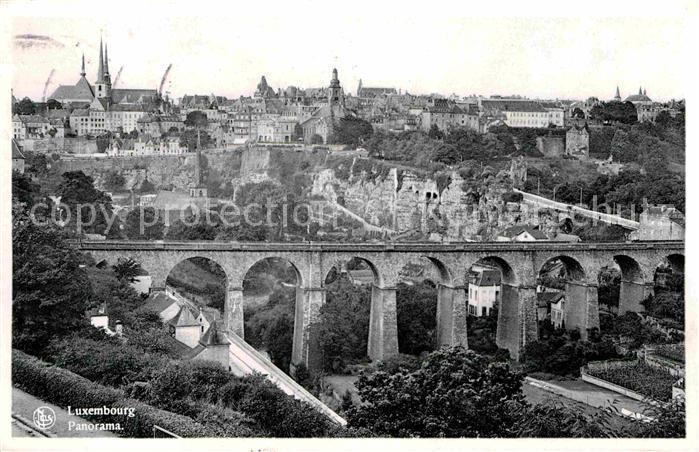 Luxembourg Luxemburg mit Viadukt Kat. Luxembourg