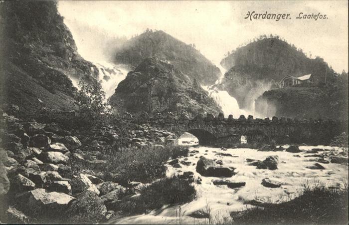 Hardangerfjord Laatefos /  /