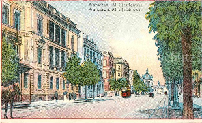 Warschau Masowien Al Ujazdowska Kat. Warschau