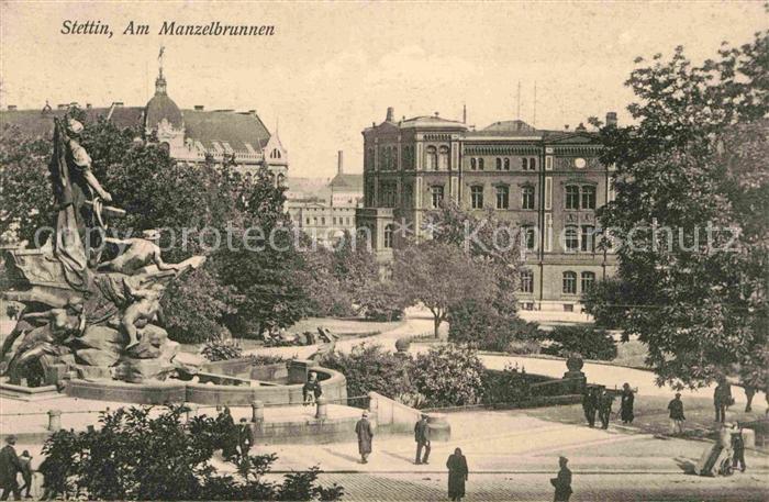 Stettin Szczecin Am Manzelbrunnen